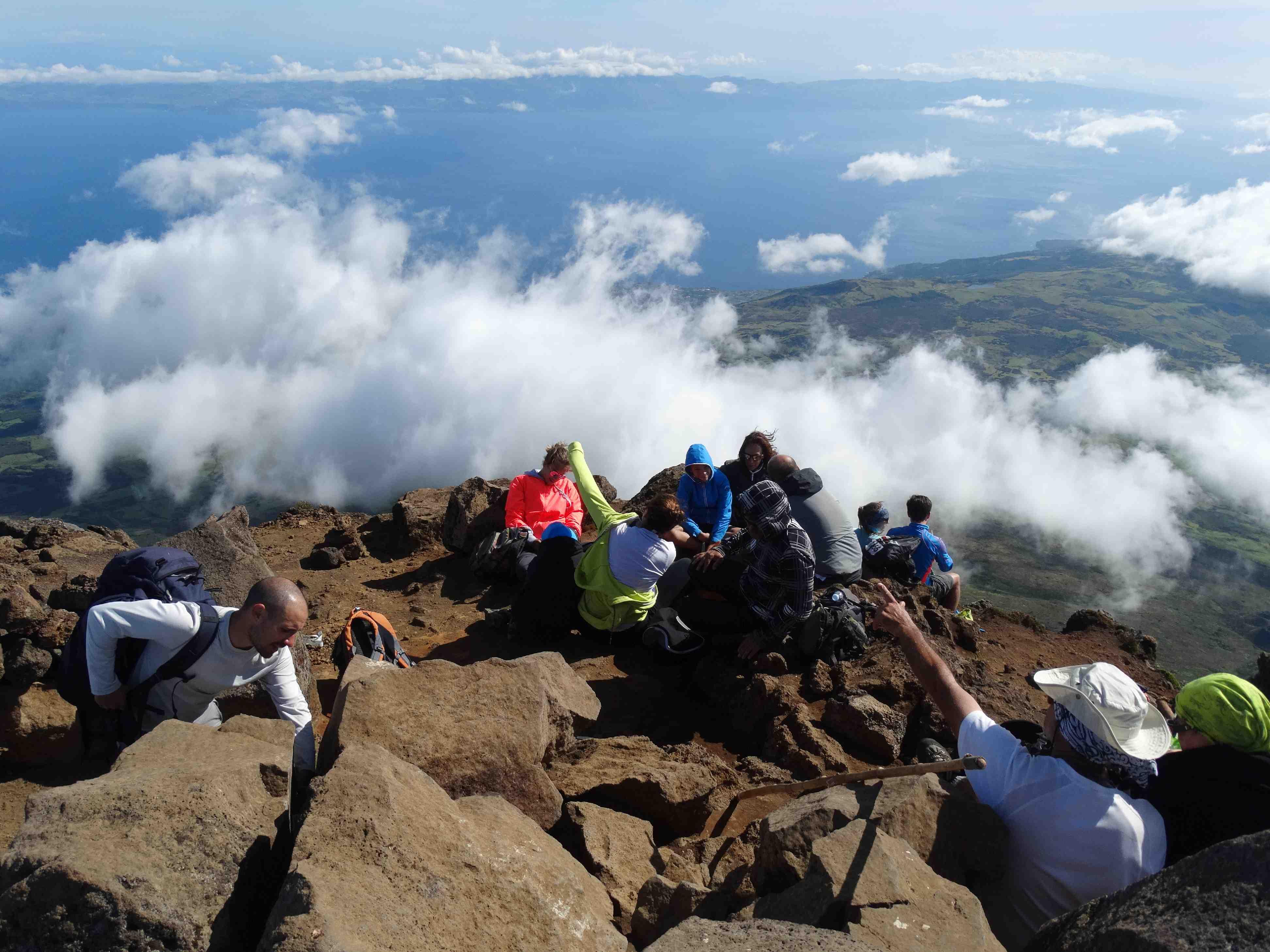 Op de top van Mount Pico