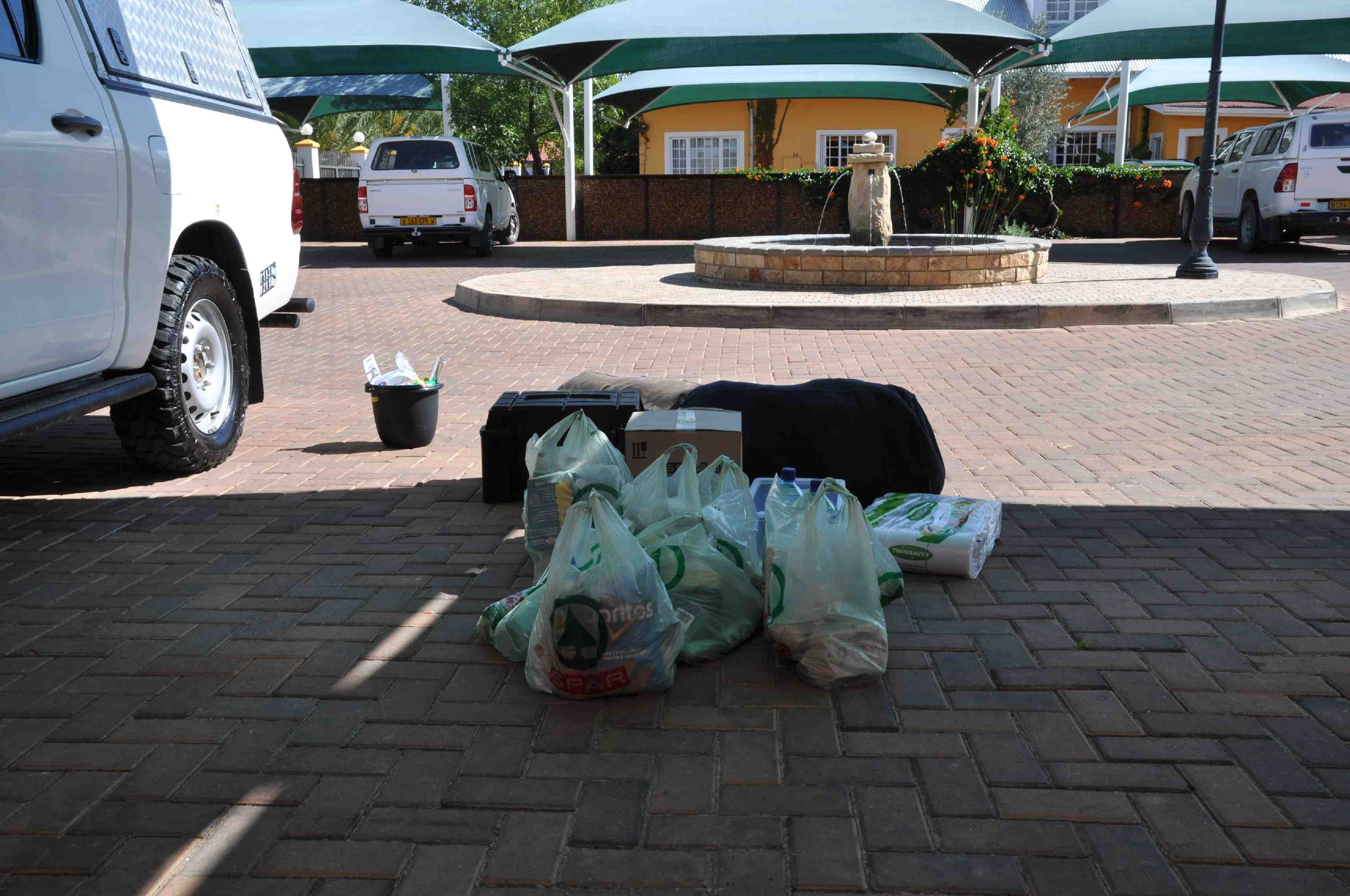 Eerste boodschappen in Windhoek