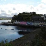 Colourful houses in the harbour of Portree on the Isle of Skye