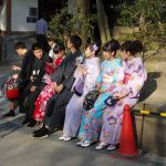 Japanse vrouwen in klederdracht