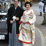 Traditioneel Japans bruidspaar