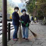 Straatvegers in Nikko