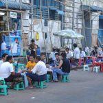 Theestalletjes in Yangon