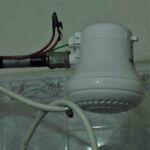 Electrische douche, heel gewoon in Zuid-Amerika