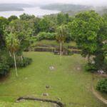 Maya ruïnes in Copan (Honduras)