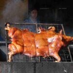 Varken aan het spit in Cuenca